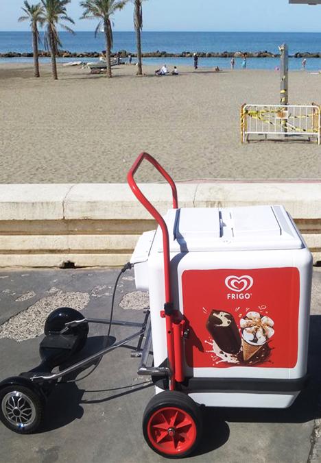 Ver carrito helados con patinete electrico hoverboard