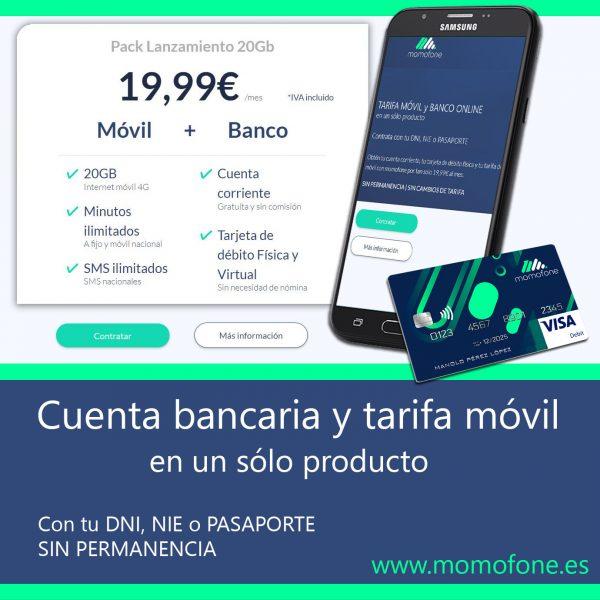 cuenta bancaria y tarifa movil momofone telcobanco