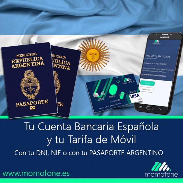 Ver cuenta bancaria espanola con pasaporte argentino