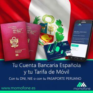 Ver cuenta bancaria espanola con pasaporte peruano