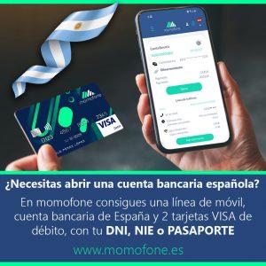 Ver cuenta bancaria espanola solo con pasaporte argentino