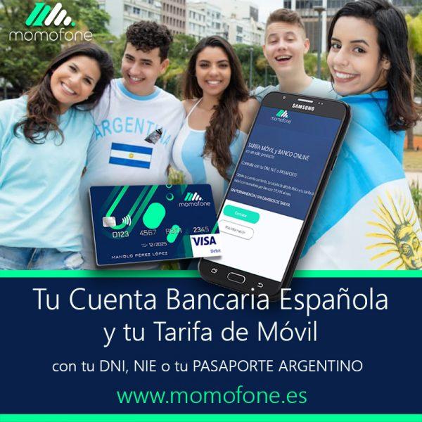 Ver cuenta bancaria espanola solo con pasaporte argentino momofone